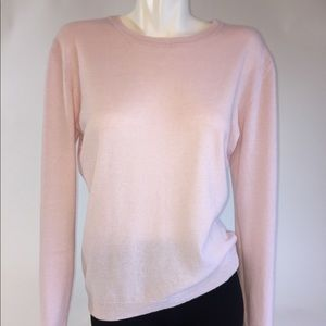 GNW Luxe Cashmere Wool Light Pink Sweater Sz L